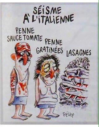 Báo Charlie Hebdo châm biếm người thiệt mạng động đất ở Ý - 1