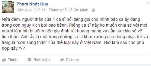 Ca sĩ Minh Thuận nguy kịch vì ung thư phổi - 2