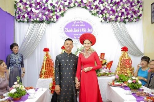 Cô dâu kém 20 tuổi của Chí Anh lộ bụng bầu trong lễ ăn hỏi - 4