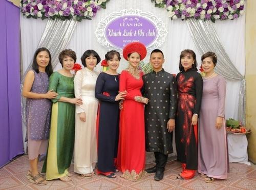 Cô dâu kém 20 tuổi của Chí Anh lộ bụng bầu trong lễ ăn hỏi - 6