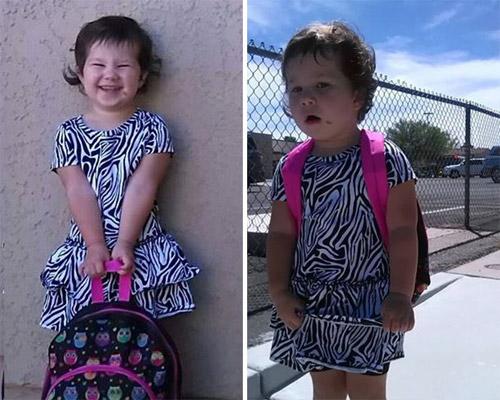 Hài hước với hình ảnh ngày đầu tiên đi học của bé - 1