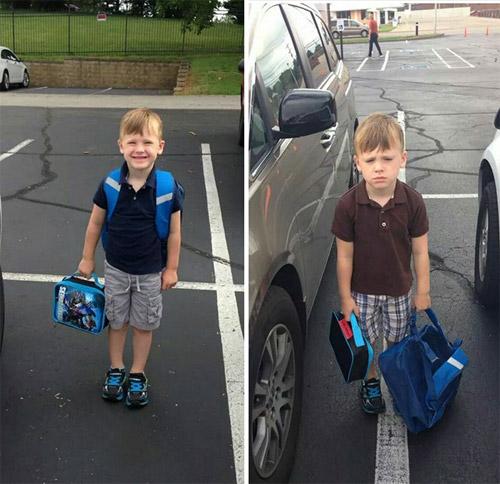Hài hước với hình ảnh ngày đầu tiên đi học của bé - 5