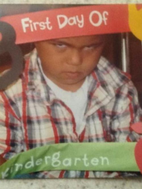 Hài hước với hình ảnh ngày đầu tiên đi học của bé - 13
