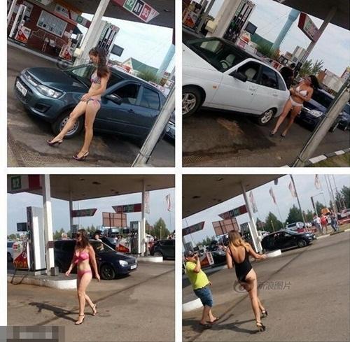 Nga: Gái xinh mặc sexy sẽ được đổ xăng miễn phí - 3