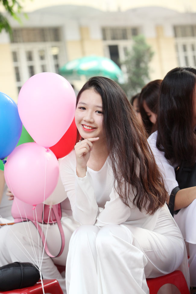 Nữ sinh trường hoa hậu Mỹ Linh xinh đẹp ngày khai giảng - 3