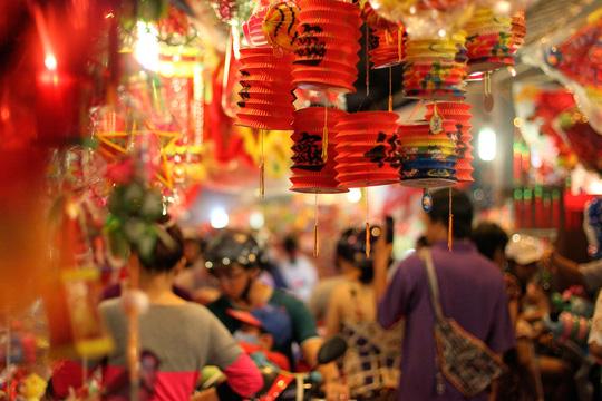 Phố lồng đèn Sài Gòn rực rỡ trước Tết Trung thu - 5