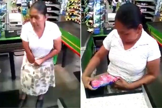 """""""Bà ngoại"""" Mexico trộm đồ siêu thị, nhét vào quần lót - 1"""