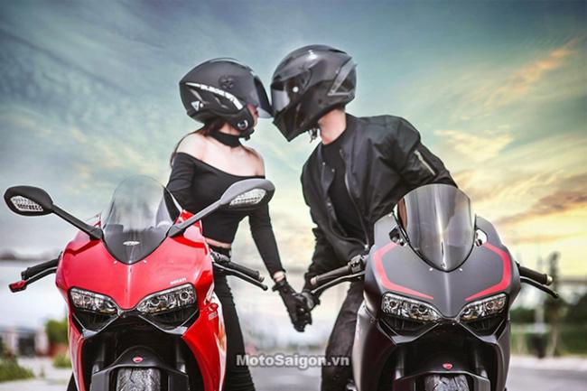 Mãn nhãn với bộ ảnh cưới cùng cặp đôi Ducati Panigale 899 - 1