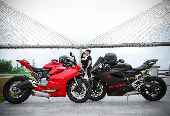 Mãn nhãn với bộ ảnh cưới cùng cặp đôi Ducati Panigale 899 - 2