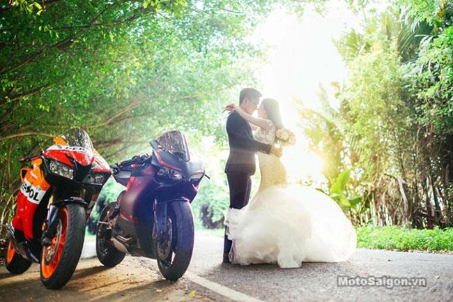 Mãn nhãn với bộ ảnh cưới cùng cặp đôi Ducati Panigale 899 - 13