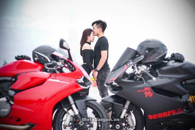 Mãn nhãn với bộ ảnh cưới cùng cặp đôi Ducati Panigale 899 - 3