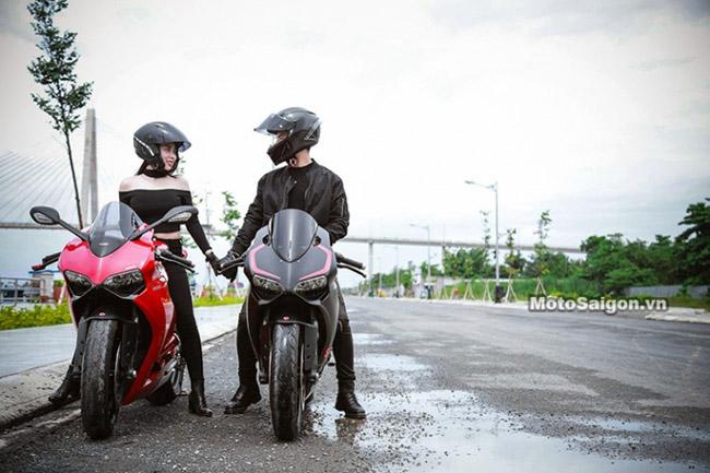 Mãn nhãn với bộ ảnh cưới cùng cặp đôi Ducati Panigale 899 - 6
