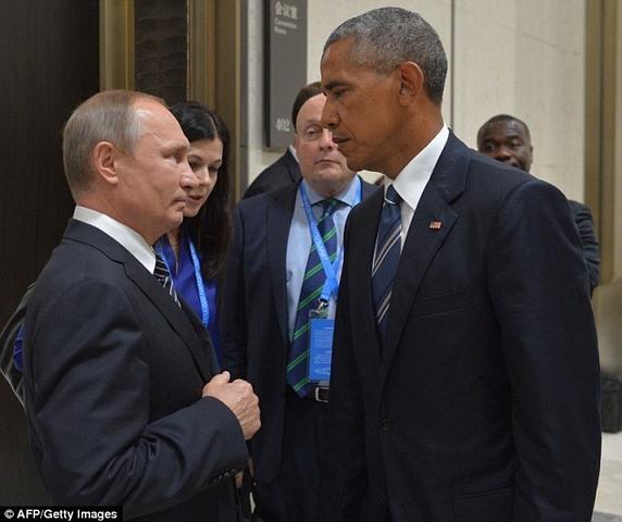 """Obama """"mặt lạnh như tiền"""" gặp Putin lần cuối nhiệm kỳ - 1"""