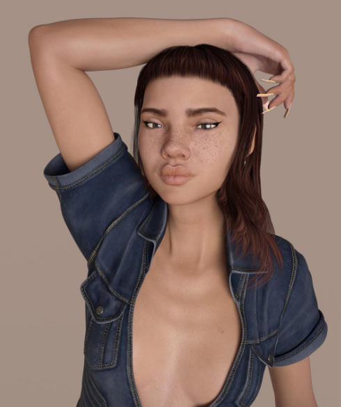 Người mẫu gây tranh cãi vì ngoại hình quá ảo - 5
