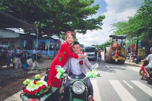 9X rước dâu bằng 40 xe minsk gây sốt ở Lâm Đồng - 1