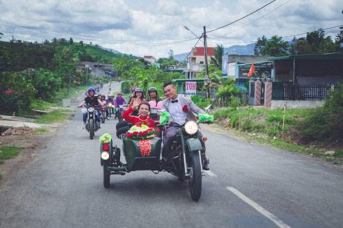 9X rước dâu bằng 40 xe minsk gây sốt ở Lâm Đồng - 9