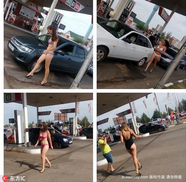 Thú vị với thử thách mặc đồ bikini đổ xăng miễn phí - 4