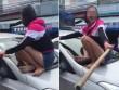 Vợ nhảy lên nắp capô đánh ghen chồng và bạn thân