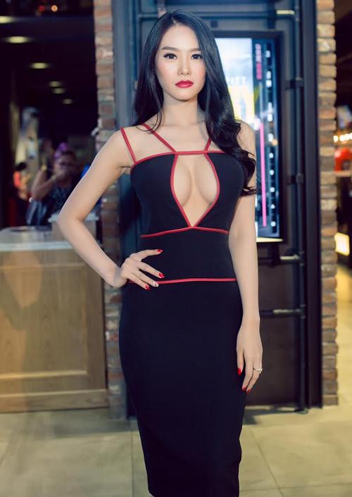 Từ khi sửa ngực, á hậu Linh Chi mặc siêu gợi cảm - 8