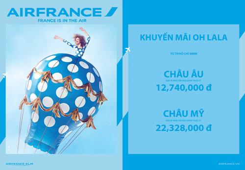 Thưởng ngoạn thế giới cùng khuyến mãi OH LALA từ Air France - 1