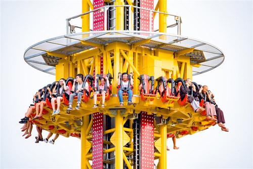 Cận cảnh Tháp rơi tự do cao nhất Việt Nam tại Asia Park - 2