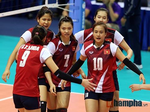 Lịch thi đấu cúp bóng chuyền nữ châu Á 2016 - 1