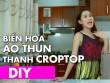 Hot girl Ngọc Thảo bật mí cách cắt nhuộm áo croptop cực dễ