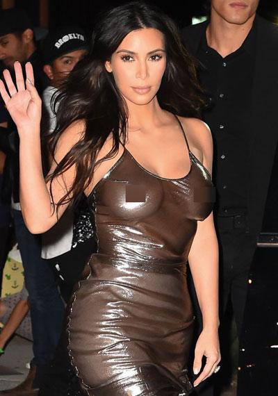 """Cô Kim quá nóng bỏng với mốt """"mặc như không"""" - 6"""