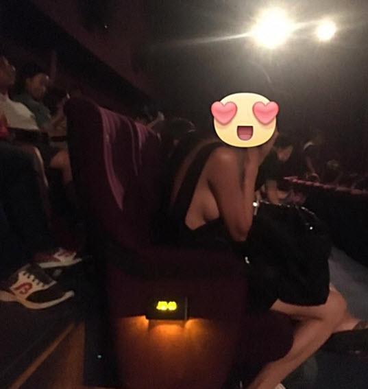 TQ: Chân dài gây sốc khi thả rông đi xem phim - 1