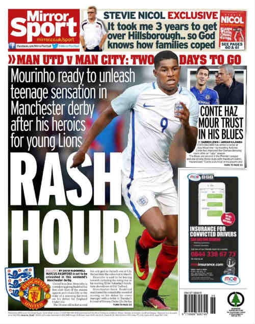 MU: Rashford đá chính derby, Mata hay Rooney hy sinh? - 1