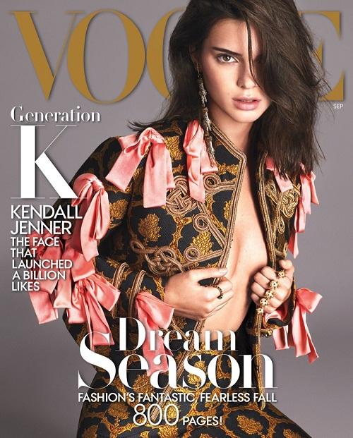 Mặc dư luận, Kendall Jenner tiếp tục lên bìa Vogue - 1