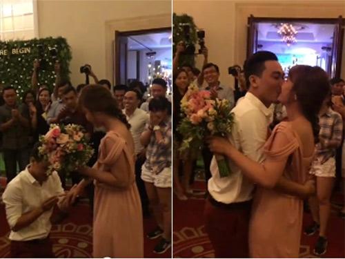 Xúc động màn cầu hôn bạn gái trong lễ cưới bạn thân - 1