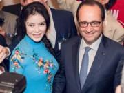 Lý Nhã Kỳ đẹp nền nã gặp Tổng thống Pháp