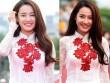 Nhã Phương nổi bật với áo dài trên thảm đỏ xứ Kim chi
