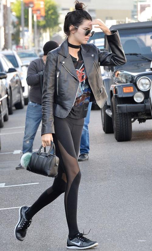 Học cách mặc legging chất như Kendall Jenner - 10