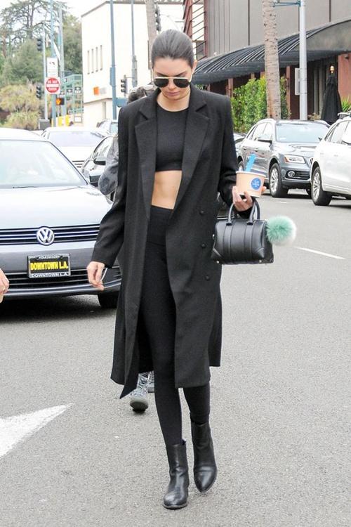 Học cách mặc legging chất như Kendall Jenner - 6