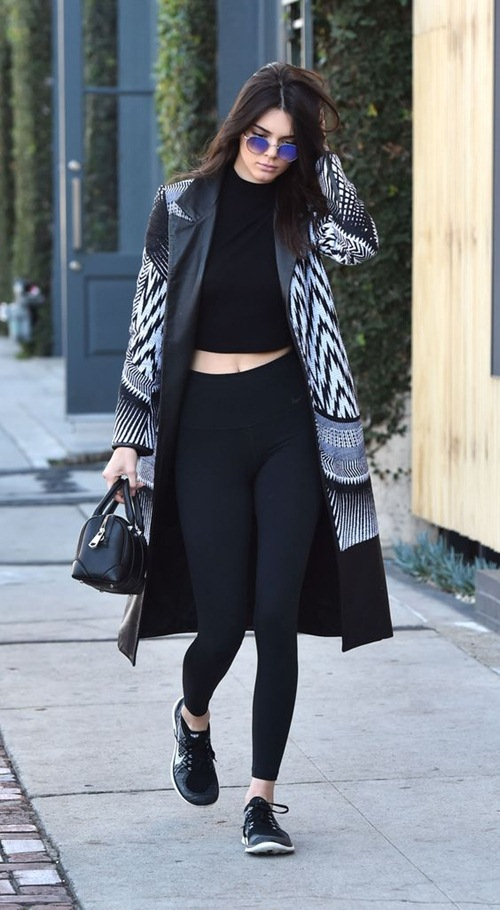 Học cách mặc legging chất như Kendall Jenner - 7