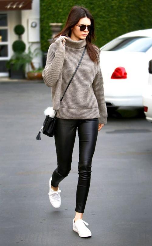 Học cách mặc legging chất như Kendall Jenner - 12