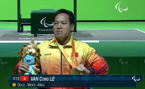 Người hùng Lê Văn Công xuất sắc nhất Paralympic ngày 1 - 1