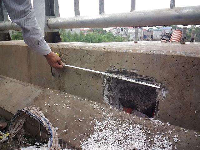 Sở GTVT Hà Nội giải thích vụ bê tông lót xốp ở cầu vượt - 1