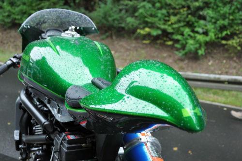 Soi Kawasaki Vulcan S độ như quái vật xanh - 9