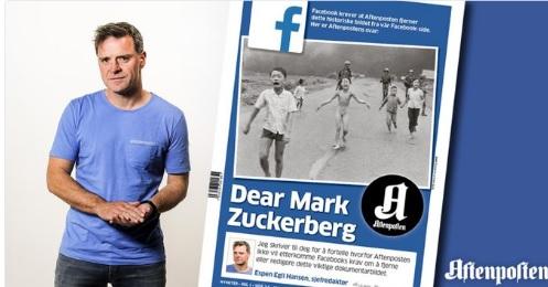 """Ông chủ Facebook bị chỉ trích vì cấm ảnh """"Em bé napalm"""" - 1"""