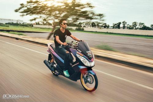 """Ngắm Honda PCX 150 độ vàng siêu đắt của """"dân chơi"""" - 7"""