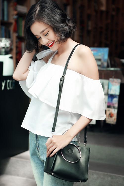 Kim Chi gợi ý cách phối đồ thu cực xinh với tóc ngắn - 4
