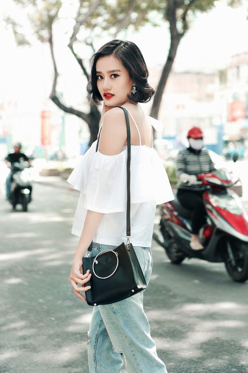Kim Chi gợi ý cách phối đồ thu cực xinh với tóc ngắn - 5