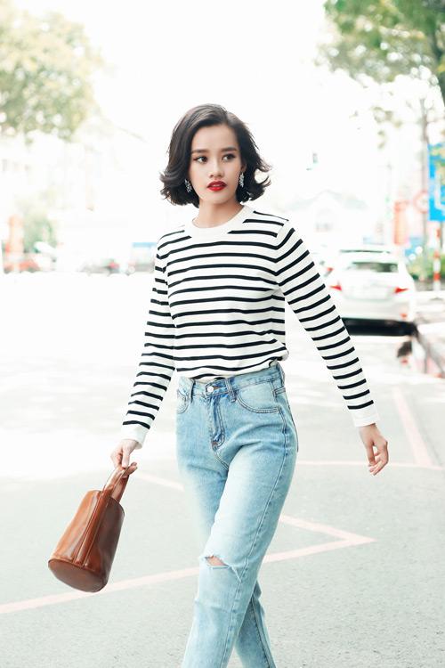 Kim Chi gợi ý cách phối đồ thu cực xinh với tóc ngắn - 6