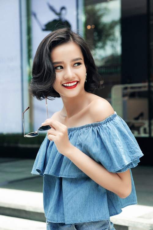 Kim Chi gợi ý cách phối đồ thu cực xinh với tóc ngắn - 8
