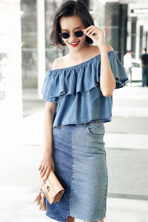 Kim Chi gợi ý cách phối đồ thu cực xinh với tóc ngắn - 10