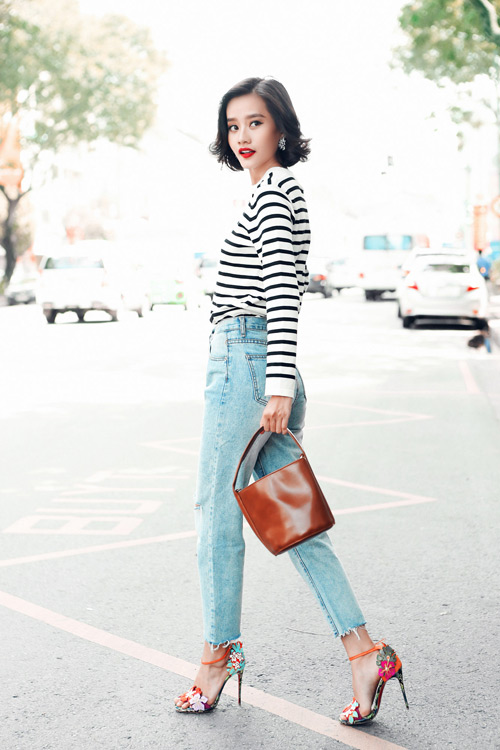 Kim Chi gợi ý cách phối đồ thu cực xinh với tóc ngắn - 7