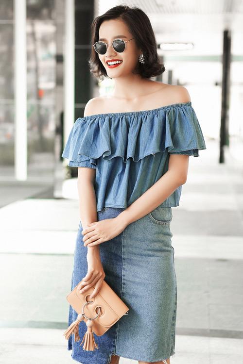 Kim Chi gợi ý cách phối đồ thu cực xinh với tóc ngắn - 9